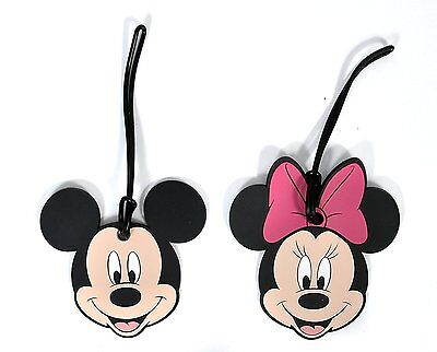 Disney Mickey & Minnie Mouse Faces Luggage Tags 2PACK