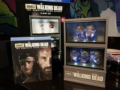 Walking Dead Season 3 DVD Set with Governor Zombie Head Fish Tank Prop Replica!