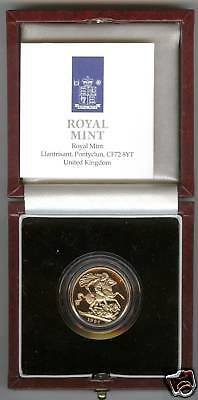 1997 Boxed Proof Gold Full Sovereign With Certificate