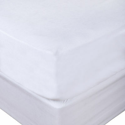Vinyl Waterproof Fitted Mattress Cover Protector – Anti Allergenic & Washable