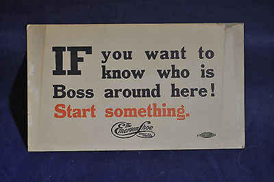 Ca 1910 Start Something! Emerson Shoe Company Blotter, Fort Edward, NY