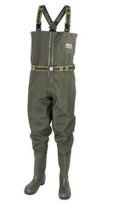 SNOWBEE Granite PVC Fishing Chest Waders Cleated Sole - All Sizes
