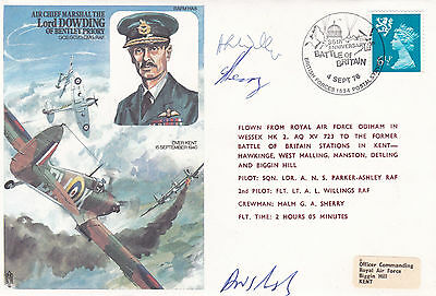 GB 1976 Lord Dowding 36th Anniv. of the Battle of Britain FDC Pilot Signed VGC