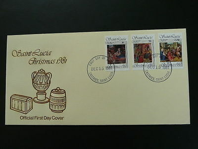 christmas 1981 Nativity Adoration of Magi FDC Saint Lucia 54683