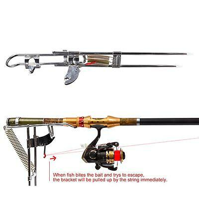 Fishing Rod Holder Automatic Double Spring Angle Fish Pole Tackle Bracket Rest