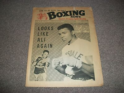 BOXING NEWS MAGAZINE  MARCH 10th  1967 MUHAMMAD ALI  ZORA FOLLEY