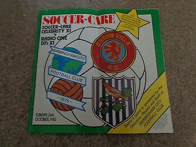 SOCCER CARE CELEBRITY X1 v RADIO one DJs X1 at BIRMINGHAM CITY 1982