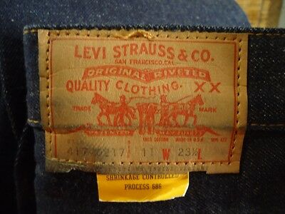 NOS Levis Vtg  Jeans Saddleman Boot sz 11 23 1/2 USA Made 417 0217 Meas 24x25.7