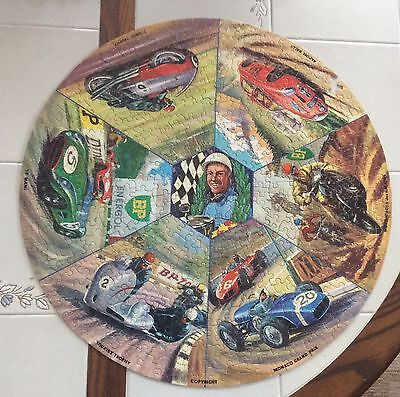 Springbok Motor & Cycle Racing BP Oil Round Puzzle 1967 + Box - Missing 1 Piece