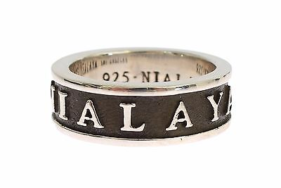 EU66 NEW $150 NIALAYA Ring Authentic Mens 925 Silver Sterling Crest s US12