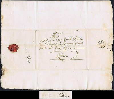 Norfolk PH 1707 Lettersheet RARE THETFORD Hockwold to London Full Contents