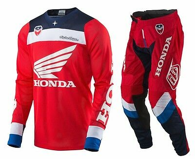 New 2017 Troy Lee Designs Se Air Corsa Honda Gear Combo Red/white/blue Size 32/m