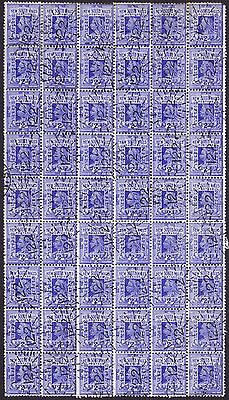 New South Wales 1897 2d Blue Superb BLOCK OF 54 (9/-) with 122 Pambula numeral
