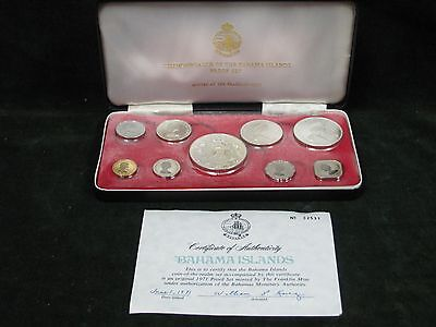 1971 Commonwealth of the Bahamas 9 Coin Proof Set