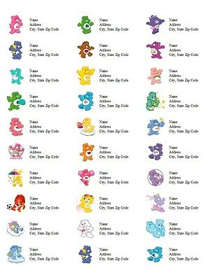 Personalized Address Labels Care Bears All Pictures Buy 3 get 1 free (d6)