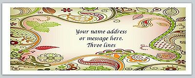 30 Personalized Return Address Labels Paisley Buy 3 get 1 free (bo 468)