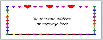 30 Personalized Return Address Labels Hearts Buy 3 get 1 free (bo 450)