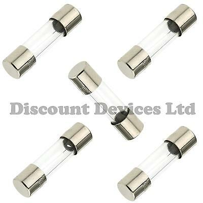 F 5A Fast Quick blow Cartridge Glass Fuses 5x20mm