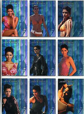 James Bond Women In Motion Complete Jinx Chase Card Set J1-9
