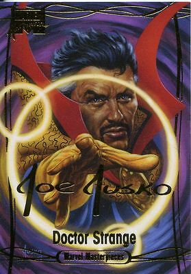 Marvel Masterpieces 2016 ''Gold Signature'' Base Card #40 Doctor Strange