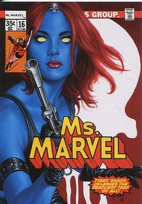 Marvel Masterpieces 2016 ''What If'' Base Card #56 Mystique #/ 999