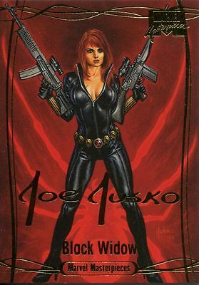 Marvel Masterpieces 2016 ''Gold Signature'' Base Card #63 Black Widow