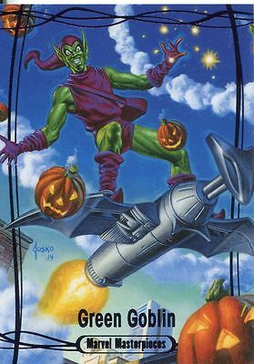 Marvel Masterpieces 2016 Purple Parallel [#/199] Base Card #77 Green Goblin
