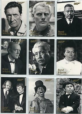 James Bond Dangerous Liaisons Complete Bond Villains Chase Card Set F21-40