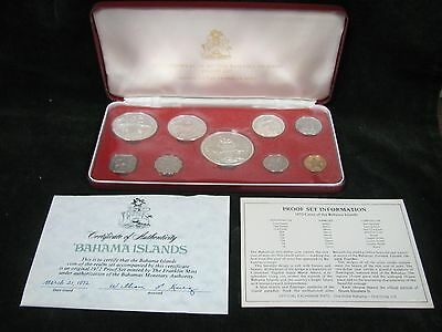 1972 Coins of the Bahamas Islands - 9 Coin Proof Set