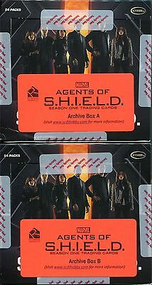 Agents Of Shield Season 1 Empty Archive Boxes A & B ( No Cards )