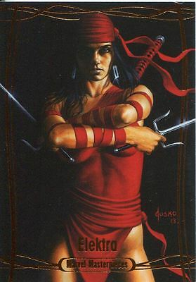 Marvel Masterpieces 2016 Orange Parallel [#/99] Base Card #53 Elektra