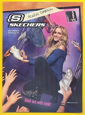 "Ashlee Simpson, Singer & Actress in 2007 Skechers Shoes Magazine Ad, ""Rock out"""