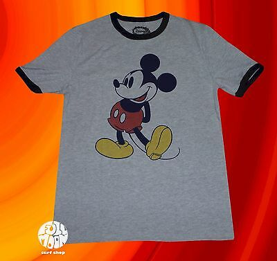 New Disney Mickey Mouse Mens Ringer Vintage Classic T-Shirt