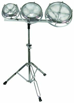 """GP Percussion Tunable Toms RT68 6"""", 8"""",10"""" Set with stand & Adapter Track"""