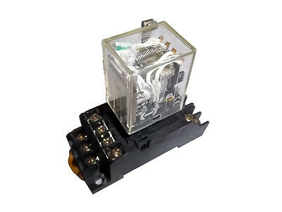 Omron MY4ZN-D2, 24VDC, 14 pin relay with socket