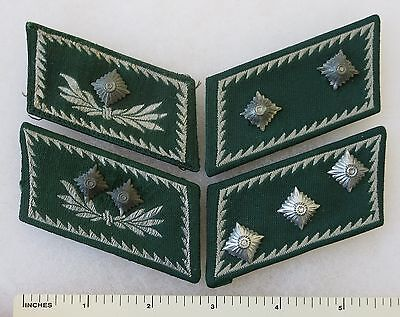 ORIGINAL WW2 Vintage Lot of 4 Single GERMAN ZOLL COLLAR TAB RANK PATCH INSIGNIA