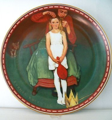 """Fine Collectible Edwin M. Knowles Plate Number 545E Ltd. Ed. """"second Thoughts"""""""