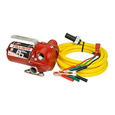 Fill-Rite RD812BN 12- Volt 8-Gpm DC Portable NPT Transfer Pump w/Alligator Clips
