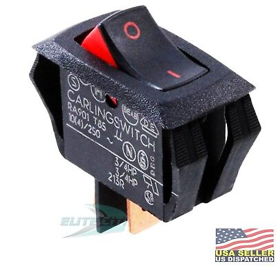 Carling Technologies RA901-VB-B-9-V Switch Rocker SPST 16A 250V Black