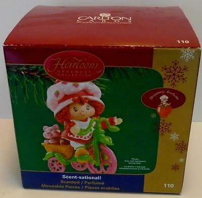 Carlton Cards Strawberry Shortcake Scent-Sational Ornament Riding Tricycle NEW