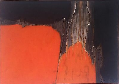 James Guitet Huile sur toile signée 1967 art abstrait Abstraction Paris Abstract