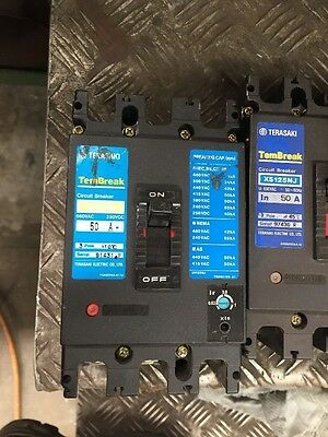 Terasaki XS125NJ 50A, 63A and 100A used, good condition Circuit Breaker #Z 3C2