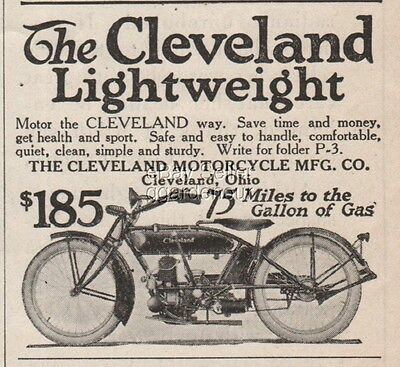 1922 Cleveland Motorcycle Manufacturing Co Ohio Lightweight $185 Magazine Ad