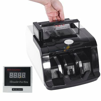 Bill Money Cash Counter Bank Machine Count Currency Uv & Mg Counterfeit Detector