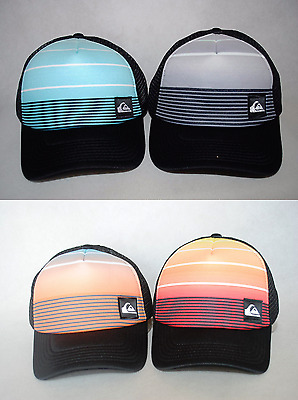 New Quiksilver Youth Boys Striped Out Adjustable Trucker Hat Cap 8-16, 2-7 years