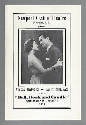 """Viveca Lindfors """"BELL, BOOK and CANDLE"""" Barry Sullivan 1953 Newport Playbill"""