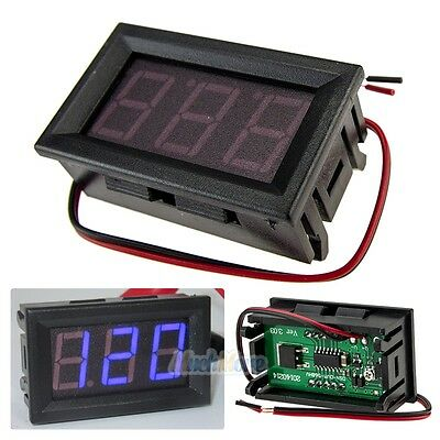 Mini AC 70-500V Voltmeter Blue LED Panel 3-Digital Display Voltage Meter 2-wire