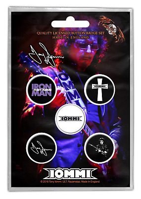 Iommi, Tony - 5 x 2.5cm Button Set - Iommi