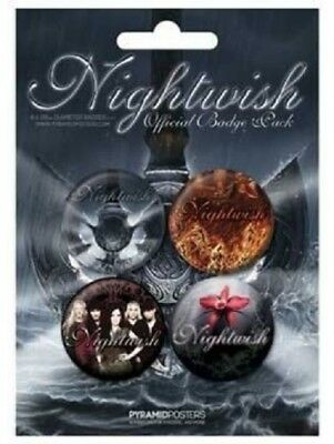 Nightwish - 4 x 4cm Button Set