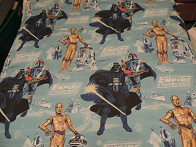 Vintage STAR WARS Empire Strikes Back Bed Sheet Flat Fitted & Bedspread 1970's